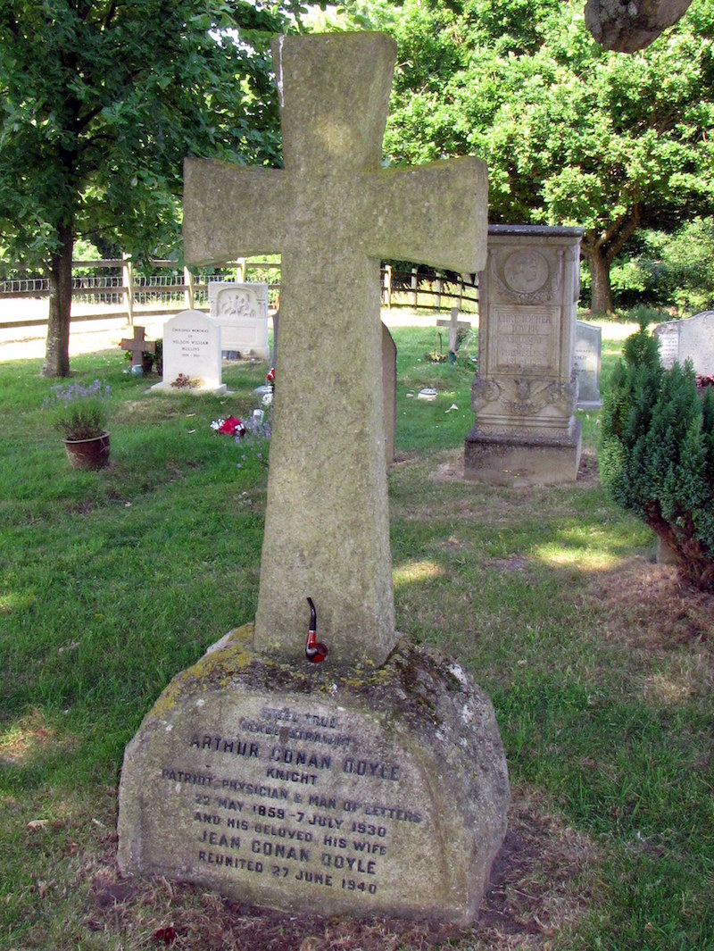 Headstone of Sir Arthur Conan Doyle