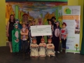 Cheque Presentation from 2014 Panto