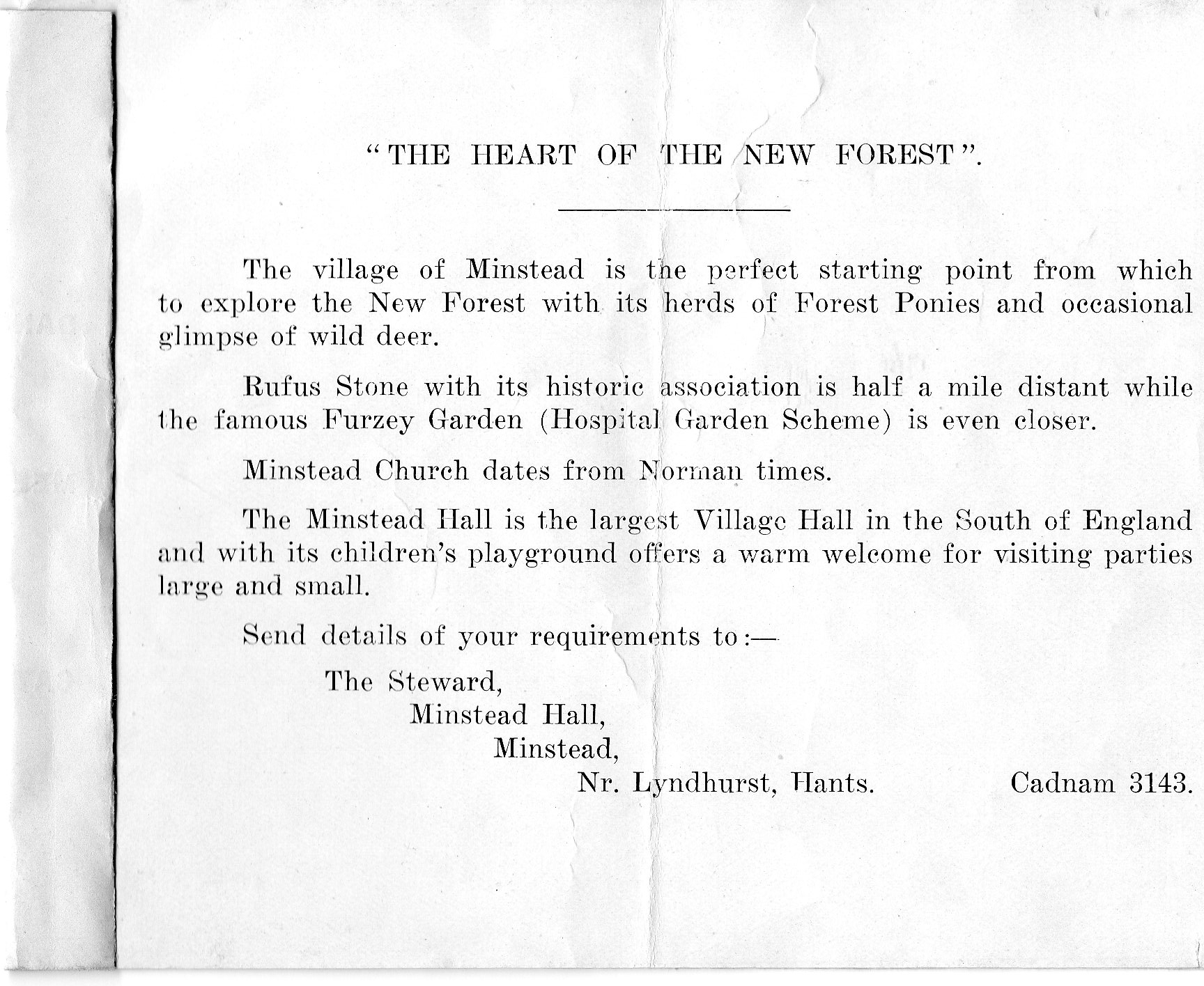 Old Hall Leaflet 3