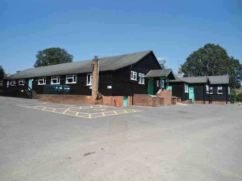 Minstead Village Hall at large car park
