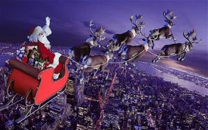 Father Christmas reindeer sleigh
